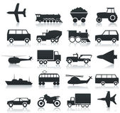Iconos de transporte — Vector de stock