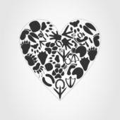 Heart of an animal — Stock Vector