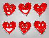 Smile hearts — Stock Vector