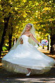 Bride spinning — Stock Photo