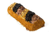 Roll with nuts and chocolate chips. — Stock Photo