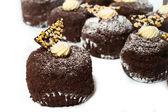 Cupcake with cream and chocolate. — Stock Photo