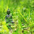 Buddha statue in the grass - Stock Photo