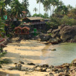 Palolem Beach lagoon, Goa. — Stock Photo