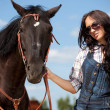 Cute cowgirl on ranch — Stock Photo #4020494