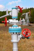 Steel pipelines — Stock Photo