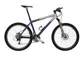 Blue Mountain bike — Stock Photo