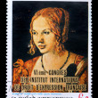 Stamp with painting by Albrecht Durer — Stock Photo