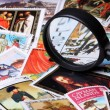 Stamp collection — Stockfoto