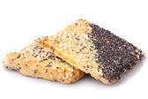 Cookies with sesame and poppyseed — Stock Photo