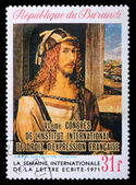 Postage stamp with Albrecht Durer self-portrait — Stock Photo