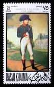 Postage stamp with Napoleon — Stock Photo