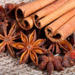 Star anise and cinnamon sticks — Stock Photo