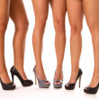 Stock Photo: High Heeled Legs