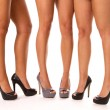 High Heeled Legs - Stock Photo