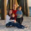 Family Beach Portrait — Stock Photo
