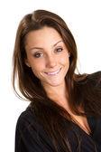 Mulher de negócios jovem feliz — Fotografia Stock