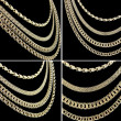 Gold chains set — Stock Photo #3929103