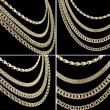 Gold chains set — Stock Photo