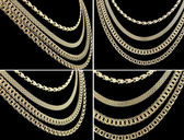 Gold chains set — Stock Photo