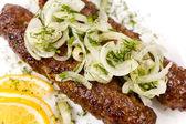 Minced mutton chops, macro — Stock Photo