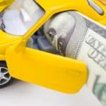 Car cost concept, macro — Stock Photo #3965981