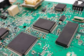 Chipset background, macro — Stock Photo
