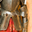 Knight armour suit, fragment - Stock Photo