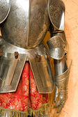 Knight armour suit, fragment — Stock Photo
