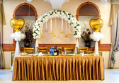 Wedding banquet table — Stock Photo