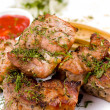 Grilled meat, macro — Stock Photo