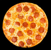 Pizza with peperoni, clipping path — Φωτογραφία Αρχείου