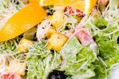 Caesar salad, macro — Stock Photo