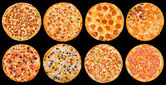 Set pizza — Foto Stock
