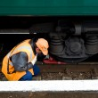 Railway worker — Stock Photo