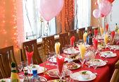Hostina restaurace tabulka — Stock fotografie