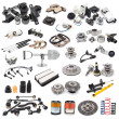 Set of auto parts - Foto Stock