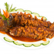 Stock Photo: Chinese food. Fried carp