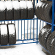 Tyres on sale — Stock Photo