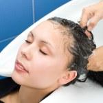 Hair washing — Stock Photo #4302464