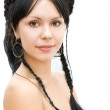Royalty-Free Stock Photo: Brunette with braids crown