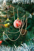 Presentes de natal ouro — Foto Stock