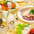 Banquet restaurant table - Stock Photo