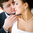 Bridegroom and bride — Stock Photo