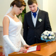 Stock Photo: Marriage registration