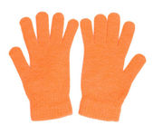 Orange gloves — Stock Photo