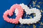 Hearts of balloons — Stock Photo
