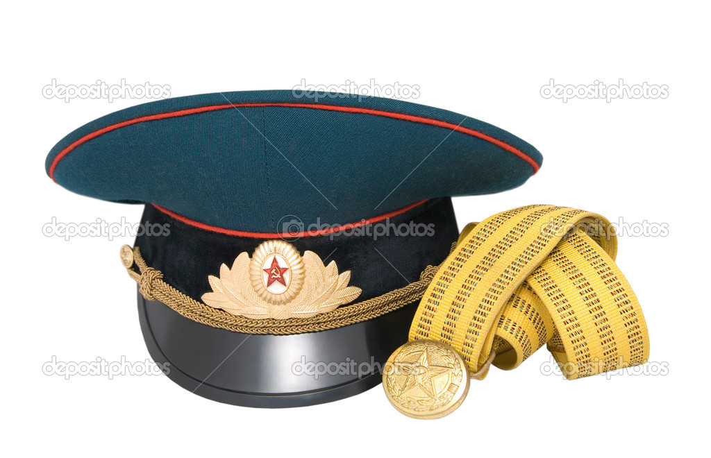 A service cap and belt of full dress of a USSR officer — Stock Photo #4736635