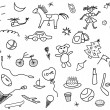 Kid's drawings set — Stock Photo