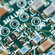 Printed circuit board, macro — Stock Photo